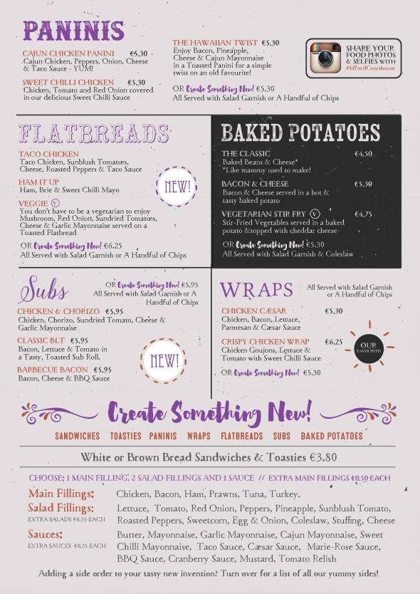 Bistro menu front web