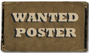 button - wanted poster