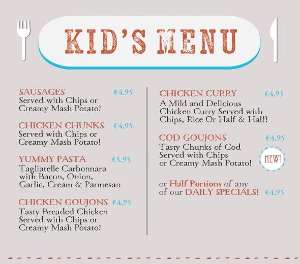 children's menu web