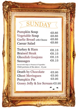 Halloween Menu sunday WEB